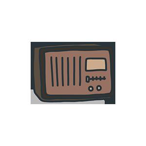 レトロなラジオのイラスト