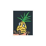 パイナップルのキャラクターのアイキャッチ