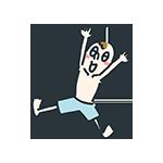 裸でジャンプしている少年のアイキャッチ