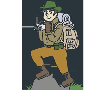 冒険家の日のイラスト