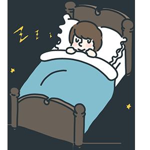 ベッドの日のイラスト