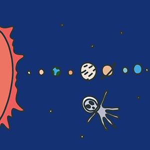 宇宙の日のイラスト