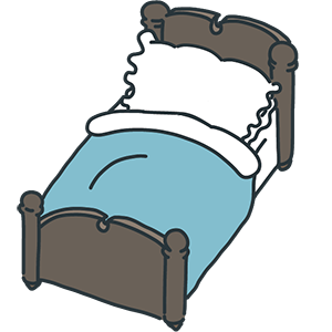 ベッドのイラスト