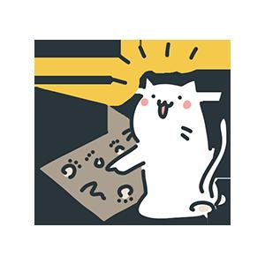 ひらめている猫のイラスト