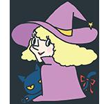ハロウィンの魔女と黒猫のアイキャッチ