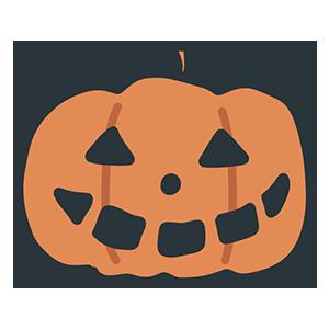 ハロウィンのかぼちゃのイラスト
