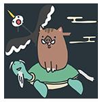鶴と亀と猪のアイキャッチ