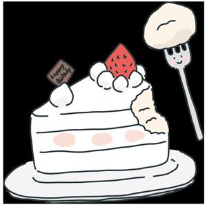 ケーキの日のイラスト