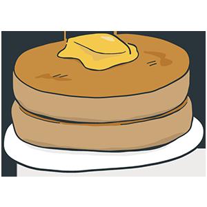 ホットケーキの日のイラスト