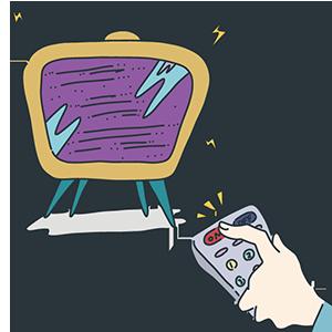テレビ放送記念日のイラスト