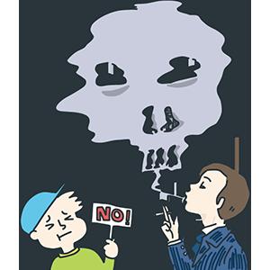 嫌煙運動の日のイラスト