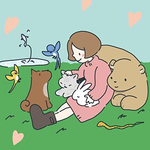 動物愛護デーのイラスト