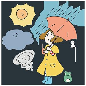 世界気象デーのイラスト