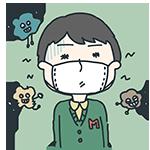 マスクをしている人のアイキャッチ
