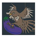 鷹がなすびを捕まえている縁起のいい初夢のアイキャッチ