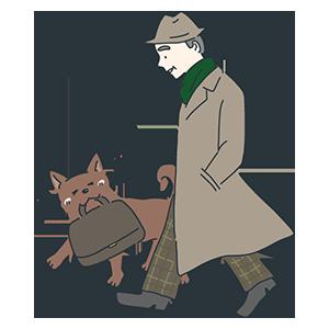 忠犬ハチ公の日のイラスト
