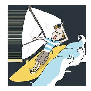 ヨットの日のイラスト