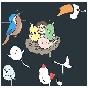 愛鳥の日のイラスト