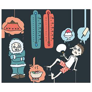 温度計の日のイラスト