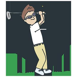 ゴルフ場記念日のイラスト
