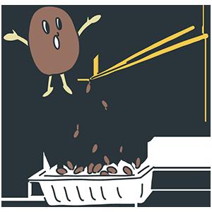 納豆の日のイラスト