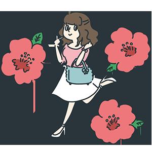 女子大生の日のイラスト