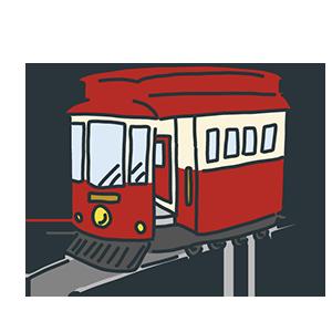 チンチン電車の日のイラスト