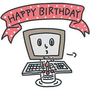 パソコン記念日のイラスト