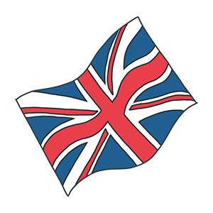 イギリスの国旗のイラスト