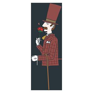 イギリスの紳士のイラスト