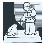 因幡の素兎の石像のアイキャッチ