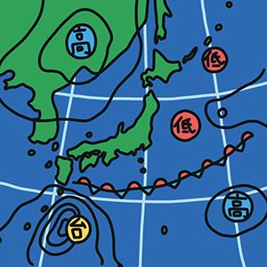 天気図の日のイラスト