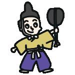 相撲の行司のイラスト