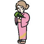 着物の女性のイラスト