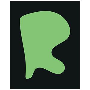 rの文字イラスト
