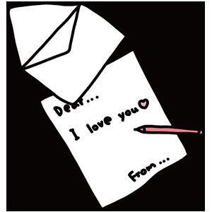 手紙のイラスト