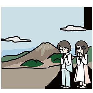 雲仙・普賢岳祈りの日のイラスト