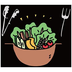 サラダの日のイラスト