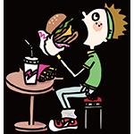 ハンバーガーの日のイラスト