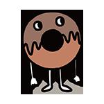 ドーナッツのキャラクターのイラスト