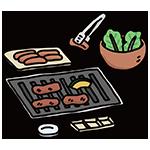焼肉の日のイラスト
