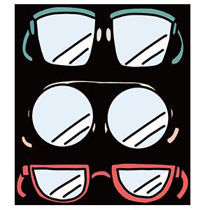 メガネの日のイラスト