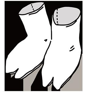 足袋の日のイラスト