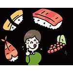 寿司の日のイラスト
