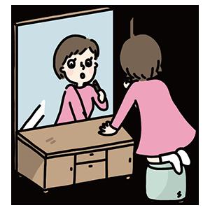 鏡の日のイラスト