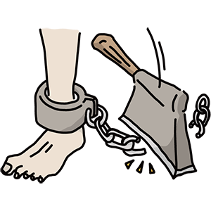 奴隷制度廃止国際デーのイラスト