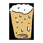 のどごしのいいビールのイラスト