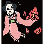 振袖火事の日のイラスト