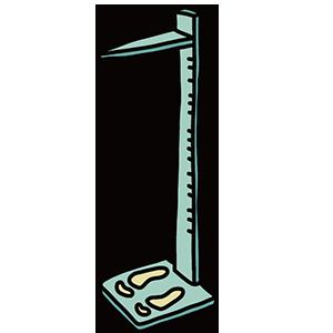 身長を測る道具のイラスト