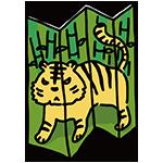 虎の屏風のイラスト